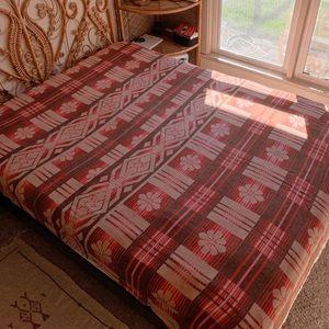 Vintage 60s/70s Wool Fleece Queen Blanket Quilt